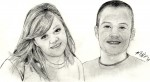 Drawing: brother & sister