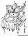 Drawing: FruitNChair