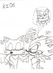 Drawing: Shadow HATES Rouge x3 =3+