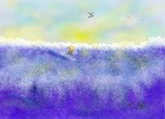 Drawing: Riding the waves!