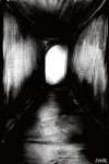 Drawing: Dark Hallway