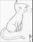 Drawing: Cute Kitten