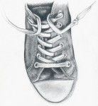 Drawing: old chucks by christina mclean