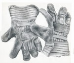 Drawing: work gloves christina mclean