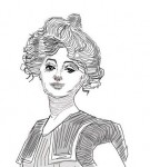 Drawing: Gibson Girl