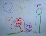 Drawing: Maria Ivancheva, 3 years old