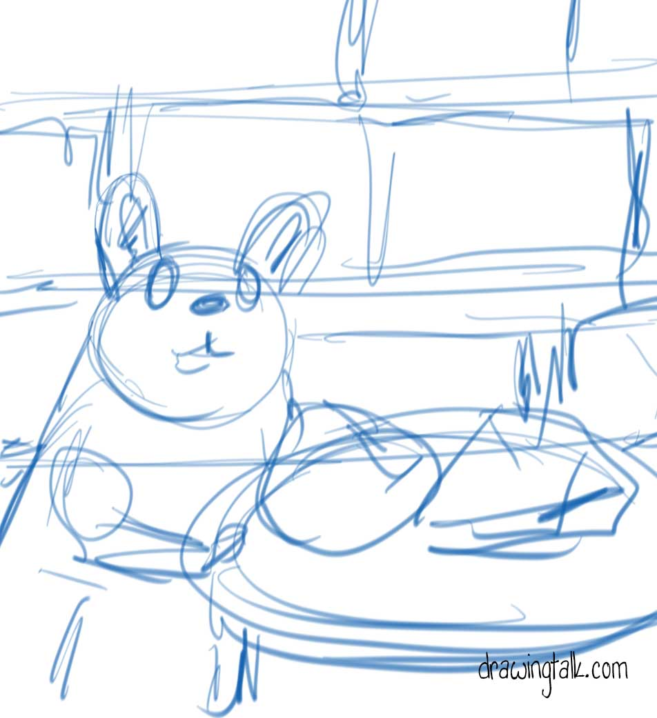 How to draw and paint a cute mouse