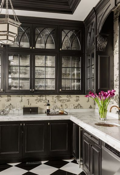 Chic Black Kitchen Cabinets