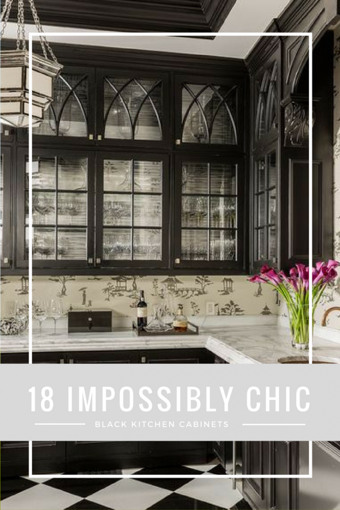 18 Impossibly Chic Black Kitchen Cabinets