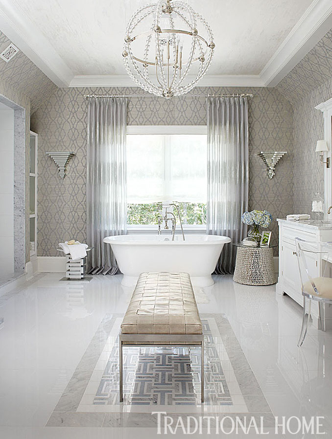 Modern Bathroom Traditional Home