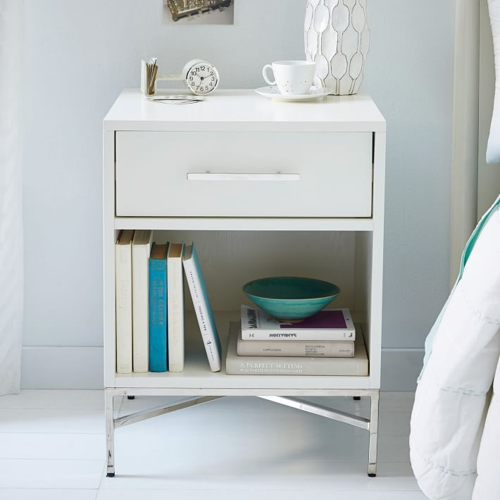City Storage Nightstand White