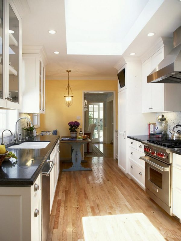 galley-kitchen-with-skylight