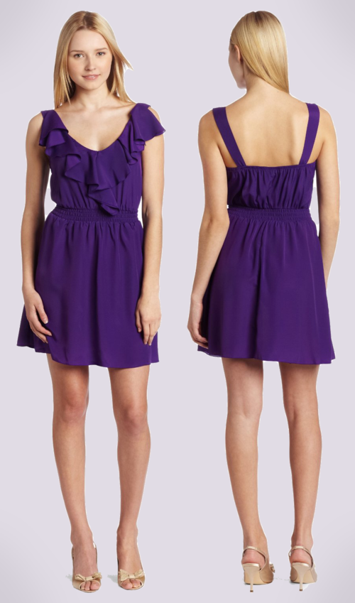 My Michelle Juniors Short Dress (Purple)