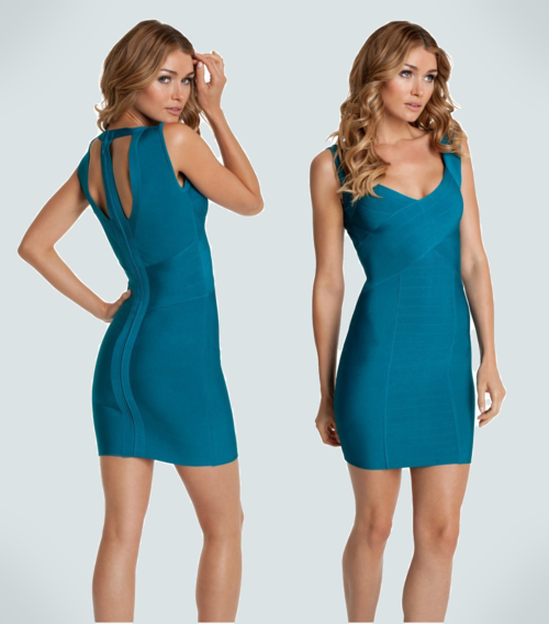 GUESS by Marciano Katrina Bandage Dress (Bermuda Blue)