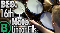 Beg. 16th Note Linear Drum Fills