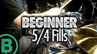 Beginner 5/4 Drum Fills