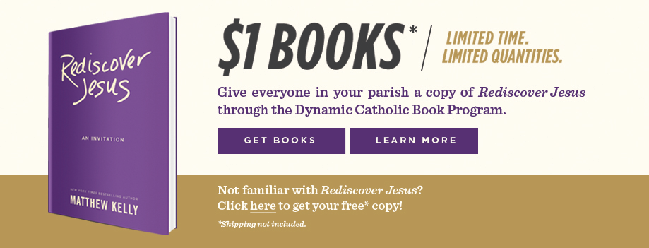 Get your copy of Matthew Kelly's new book Rediscover Jesus today - Click Here!
