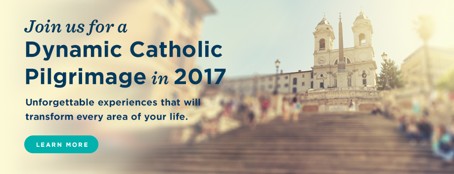 Join Dynamic Catholic on an unforgettable Pilgrimage in 2017 - Learn More