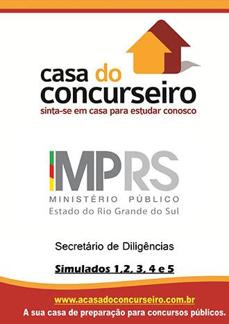 Apostila preparatória para concurso Simulados MP-RS - Secretário de Diligências