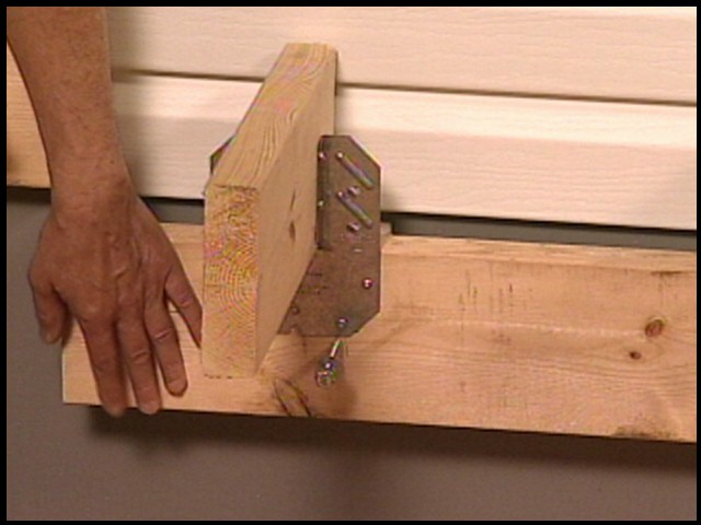 Attaching Ledger Plate : Attaching a deck to house