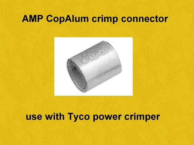 Aluminum to copper electrical connectors