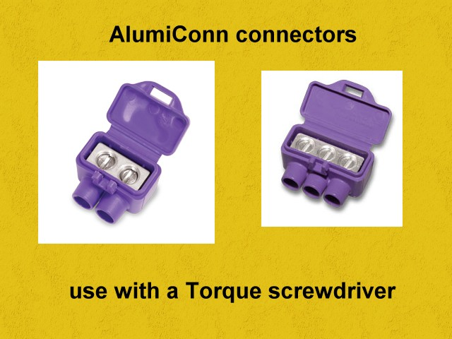 aluminum to copper electrical connectors rh joneakes com approved aluminum wiring connectors aluminum terminal connectors