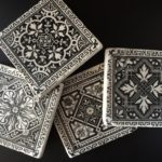 Classic-Victorian-Patterns-Set-of-4-Handcrafted-Tumbled-Marble-Coasters-301991154244