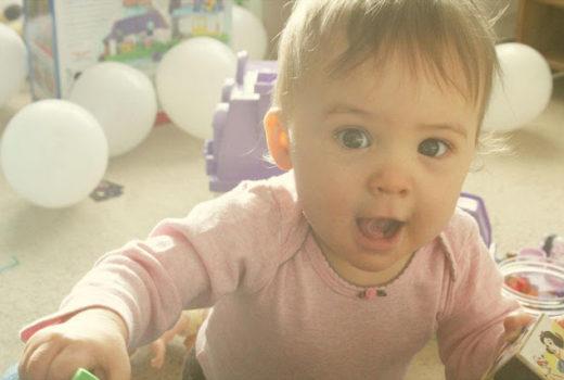 Eva on her first birthday