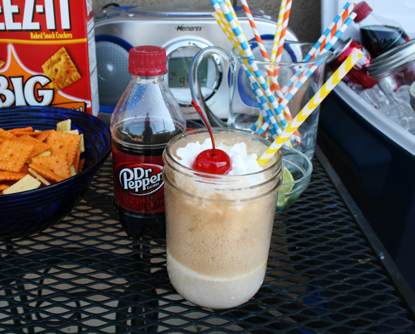 Dr. Pepper ice cream soda float
