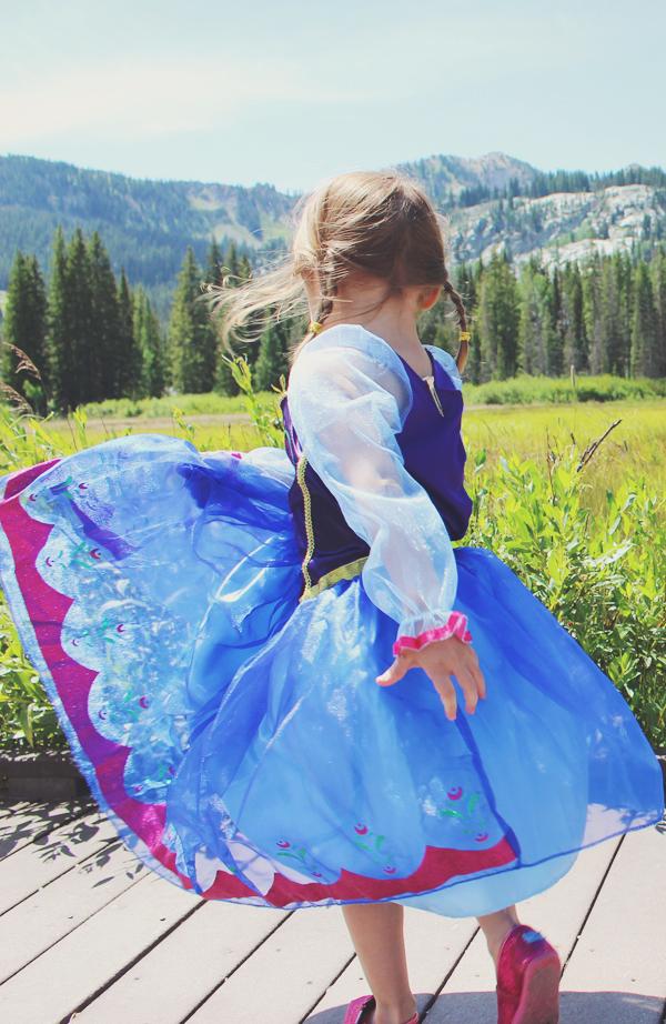 Princess Anna twirling #FROZENFun #shop