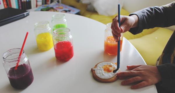 Making watercolor sugar cookies #SweetOrTreat #CollectiveBias #shop