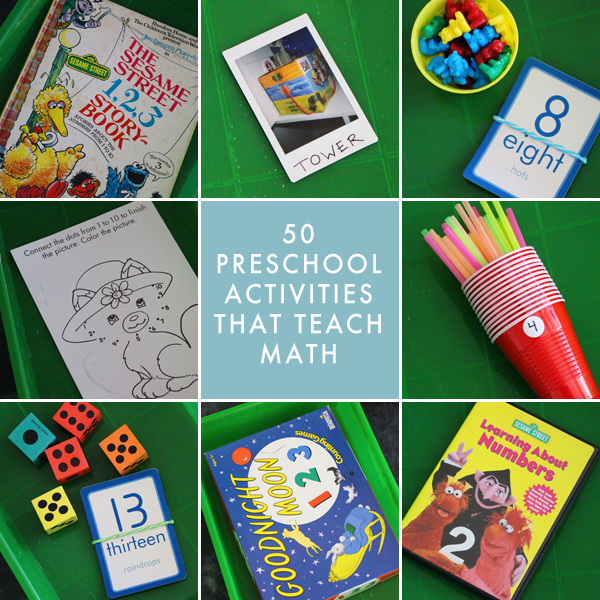 50 Preschool Homeschool Activities That Teach Math
