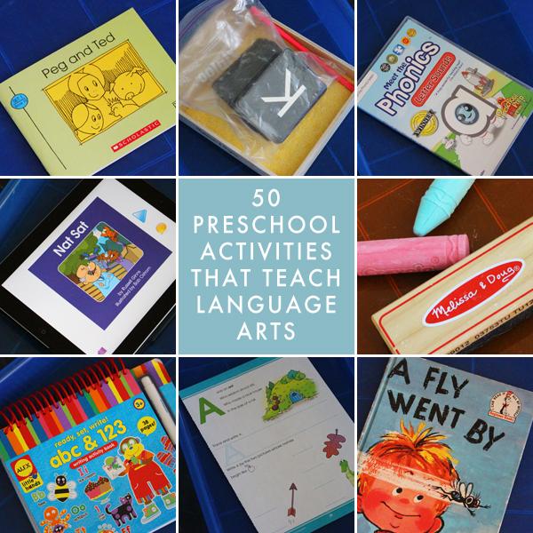 50 Preschool Homeschool Activities That Teach Language Arts
