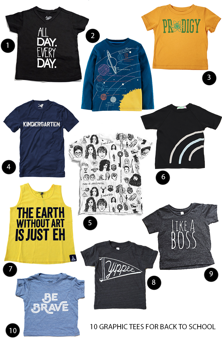10 Graphic Tees for Back to School