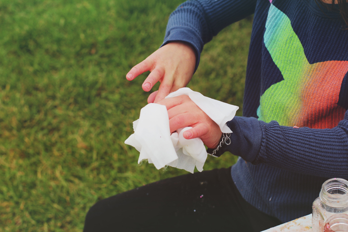 Use WaterWipes to clean up for kids with severe eczema