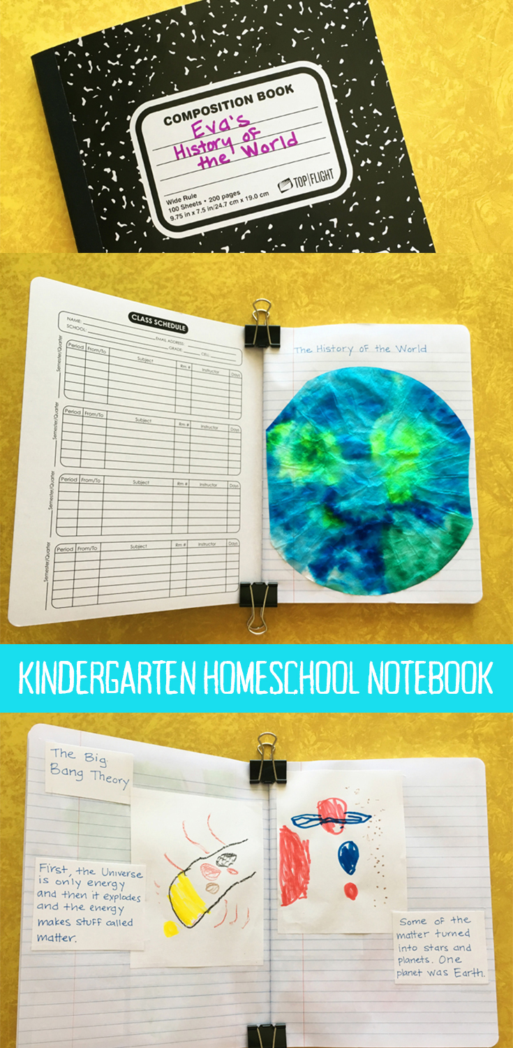 Kindergarten homeschool history notebook