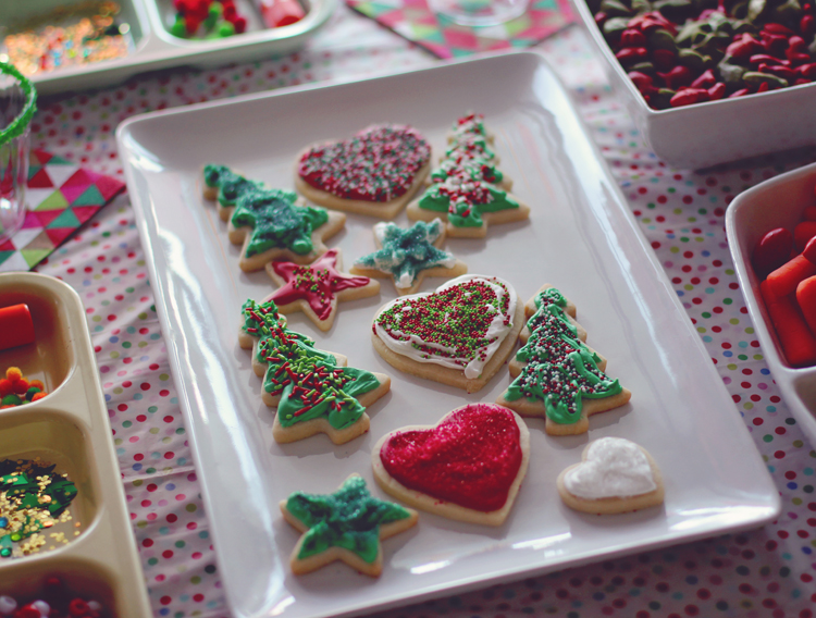Christmas party sugar cookies
