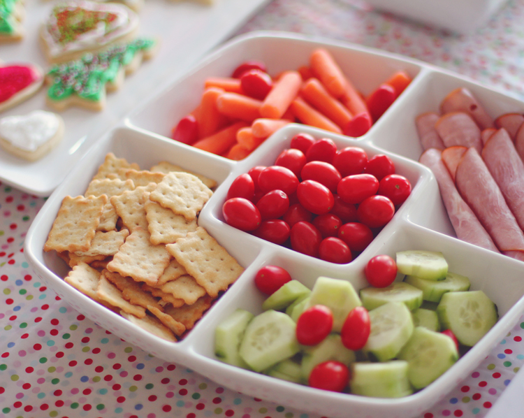 Kids food at a Christmas party