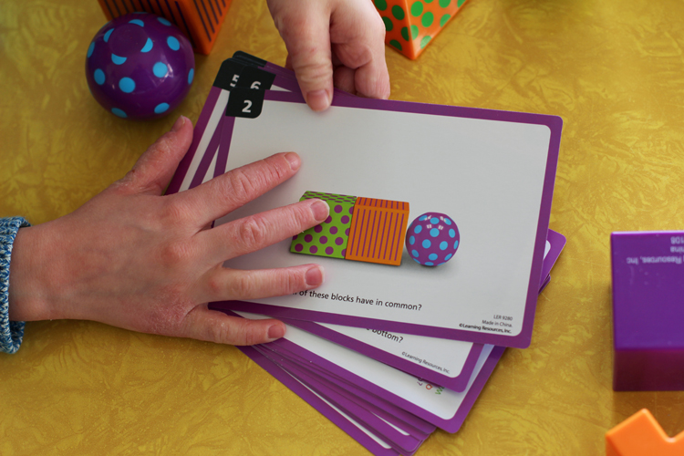 Geometry and pattern based math game for homeschool