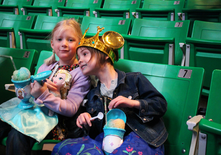 Snow cones and Mickey crown at Disney on Ice