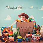 Wyatt's Disney and Pixar Themed Baby Portraits