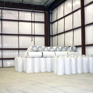 EcoFoil White Foil Bubble Insulation for Metal Building