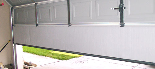 White garage door insulation radiant barrier
