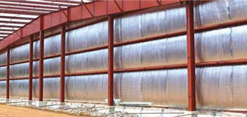metal building foil bubble insulation