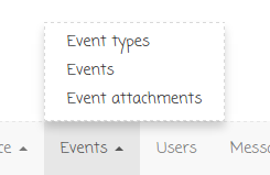 Event attachments