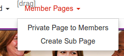 Member pages