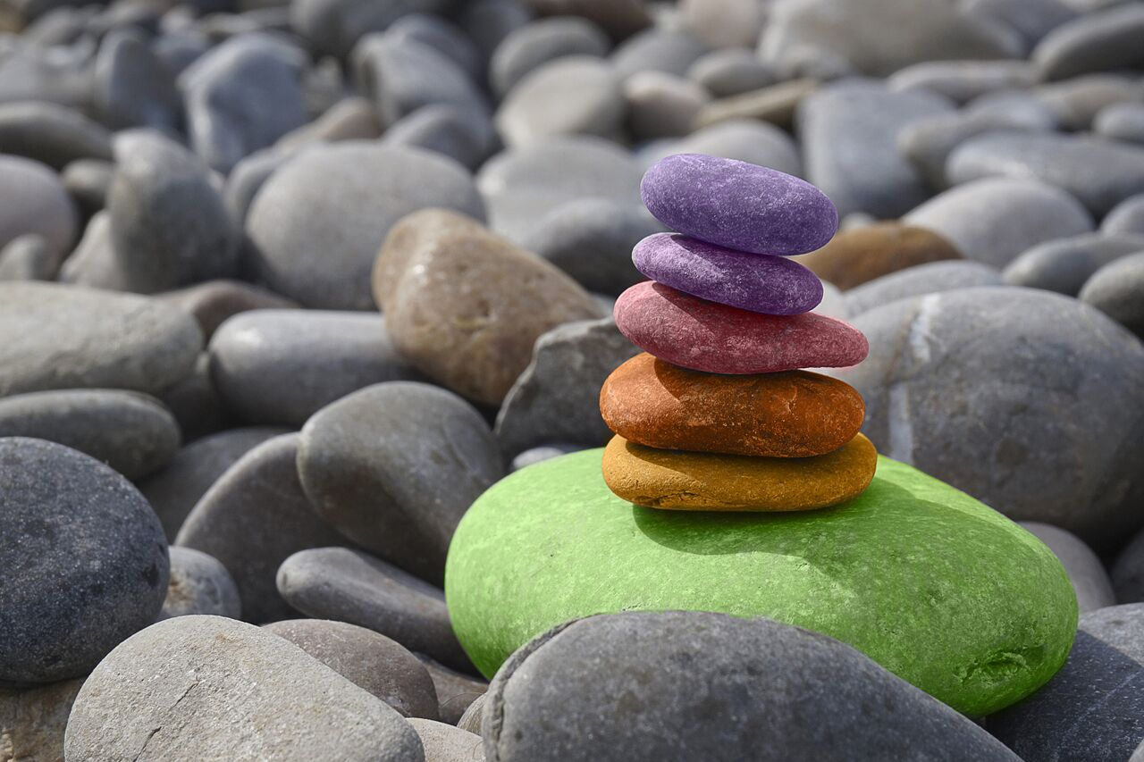 Rocks that look colored after brain injury and visual balance disorder