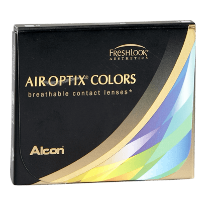 Eye doctor, box of Air Optix Colors contact lenses in Lancaster, OH