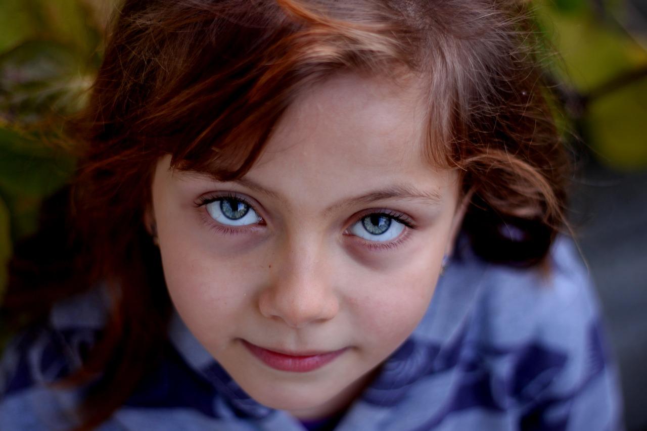 little girl portrait with amblyopia