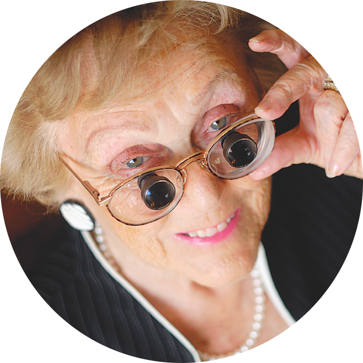 Happy Low Vision Patient